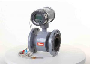 China Sewage Flow Metering Magnetic Water Meter Hard Rubber Liner With Electrode 316l on sale