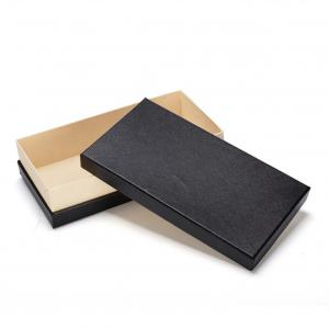 China Wholesale  Recyclable Biodegradable Custom logo  matte black private label gift box for wallet on sale