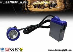 China 4000lux Strong LED Mining Light , Emergency Mining Headlamp With 6.6Ah 3.7V Li Ion Battery on sale