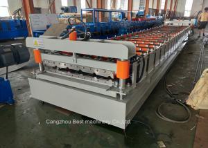 China Steel Metal Roof Sheet Making Machine 3kw Power High Grade Rigidity on sale