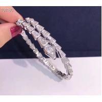 Bracelet Designer Pave Diamond Jewelry , Luxury 18K Solid White Gold Jewellery