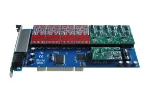 China TDM1200P 12 Port fxs/fxo Voip Asterisk PCI Card on sale