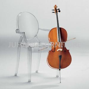 China Stacking Transparent Louis Ghost Chair on sale