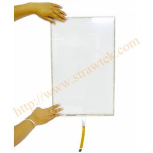 China Large 22 Inch Touch Screen Digitizer 5 Wire Resistive Touch Panel For Bank Inquiry System on sale