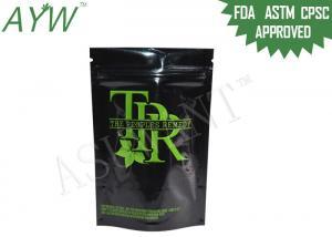 China 1/8 Oz Medical Marijuana Packaging Doypack ,  Fragrance Barrier Lockable Medicine Bag For Remedy Cannabis on sale