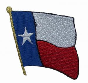 China TEXAS Flag Iron On Velcro Embroidery Patches For Clothes on sale