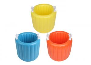 China Yellow Or Blue Inflatable Barrel , Multipurpose Large Ice Bucket on sale