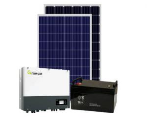 China Rooftop Single Core 100Kw 60Hz Hybrid Solar PV System on sale