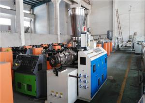 China High Capacity Conical Twin Screw Extruder For PVC / WPC Profile Extrusion on sale