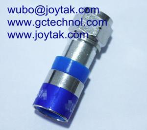 China Conector coaxial do conector da compressão de F para o conector de cabo do Internet do cabo coaxial de RG6U on sale