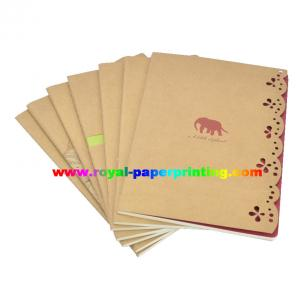 China kraft paper notebook/exercies book/school book/notepad printing on sale