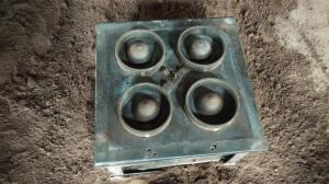 China Anti Rust Ductile Cast Iron / Metal Dies For Green Sand Wheel Castings EB16031 on sale