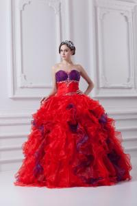 China 2013 Girls Pretty Organza Sweetheart Quinceanera Party Dresses for Prom , Multi Colors on sale