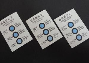 China Blue To Pink 3Dots Humidity Indicating Cards For Metal Packaging At 30%-50% supplier