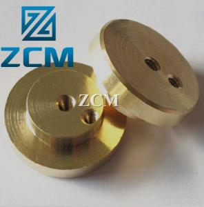China 21mm Diameter 75mm Length Brass Turning Parts on sale