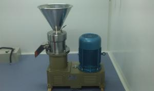 China 304 SUS Horizontal Colloid Mill Machine / Colloid Grinder Water Cooled on sale