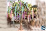 Odorless Artificial Wisteria Tree , Colorful Wisteria Wedding Centerpieces