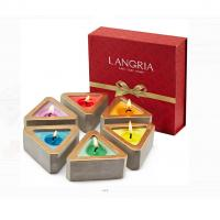 China Colored Scented Jar Candle With Packaging Boxes Home Decoration Customized Logo on sale