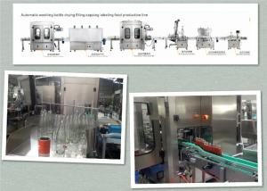 China Food Grade Sauce Filling Capping And Labeling Machine No Leakage No Pollution on sale