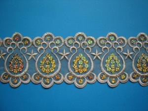 China Garment embroidery lace on sale