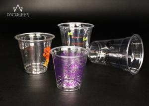 China Crack Resistant Cold Drink Disposable Cups With Branded Logo Printing on sale