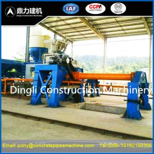 China horizontal culvert concrete pipe making machine for cement hume drain tube on sale