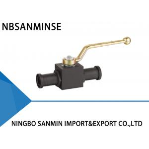 China KHB KHM Shut Off Hydraulic Ball Valve Carbon Steel 16mm 20mm 25mm Diameter With SAE Flange on sale