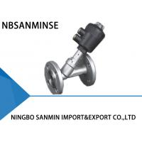 Professional JDF 400 Pneumatic Angle Seat Valve High Effective Sealing With Flange