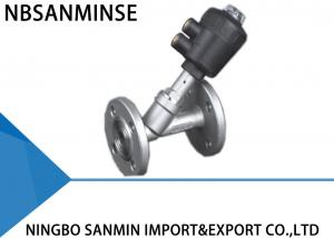 China Professional PV 400 Pneumatic Angle Seat Valve High Effective Sealing With Flange on sale