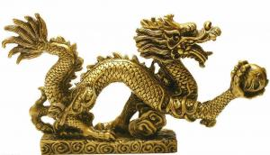 China Chinese bronze dragon sculpture on sale