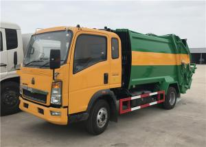 China HOWO 4X2 8m3 Garbage Compactor Truck 5tons Waste Collector Truck Compressed Garbage Truck on sale