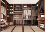 China Knock Down Walk In Closet Wardrobe Dark Style With Kick Board , Flat Packing wholesale