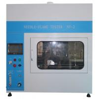 China PLC Touch Screeen Flammability Tester Needle Flame Test Apparatus For Cable on sale