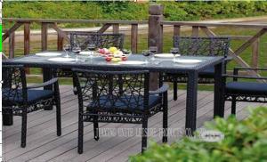 Quality Tableau et chaises extérieurs en osier de meubles de patio de rotin pour le for sale
