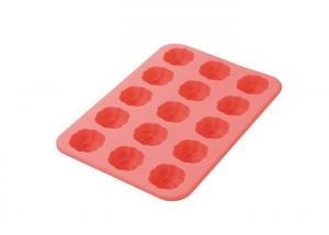 China Pink Mini Silicone Baking Molds , 15 Cavities Silicone Pans For Baking on sale