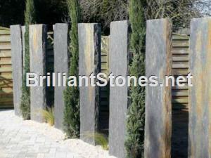 China Black Slate Palisade/Pillar/Balustrades on sale