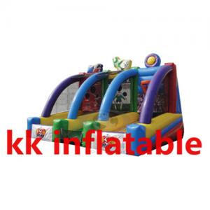 China Fireproof Inflatable Sports Equipment bounce house with slide on sale