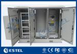 IP55 Three Compartment Air Conditioner Cooling Outdoor Telecom Cabinets With Four Doors