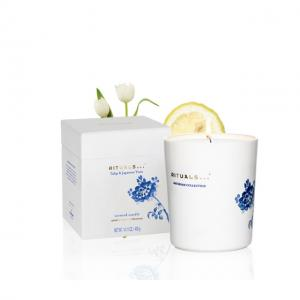 China Blue And White Ceramic Jar Scented Candle Home Decoration Gift Box Packaging on sale