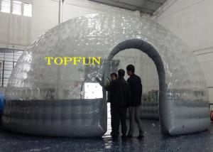 China 0.8mm PVC Transparent Clear Dome Inflatable Bubble Tent Heat Seal Double Layers on sale
