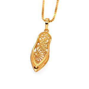 China shoes pendants Women/Men Vintage jewelry 18K Gold Plated Fashion african Jewelry crystal on sale