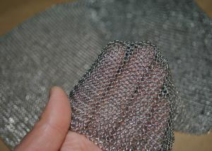China 304L Stainless Steel Welded Rings Chainmail Mesh Fabric For Decoration And Protection on sale