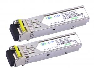 Quality 120KM 1.25G Fiber BIDI Optical Transceiver HP Compatible 1310nm / 1550nm for sale