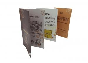 China Bi Fold Brochure Printing Service Adhesive Paper Labels Recyclable Customized on sale