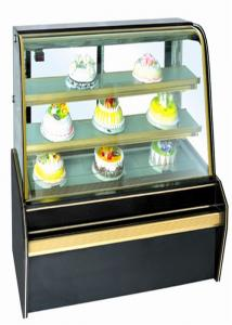 China Sliding Double Doors Food Showcase Refrigerator , Tough Glass Vertical Chiller on sale