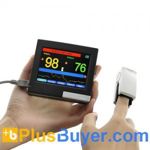 China Portable Finger Pulse Oximeter + Heart Rate Monitor - 3.5 Inch Touchscreen on sale