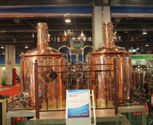 China Restaurant Copper Brewing Equipment Steam Heating 1000L 2 Or 3 Vessels on sale