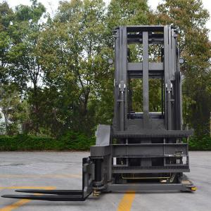 China 1.5 Ton 3 Ways Electric Pallet Stacker Locked Rear Axle For Narrow Aisle on sale