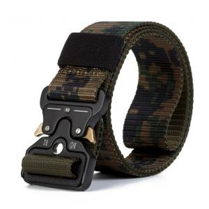 China Mens Durable Outdoor Alloy Cobra Buckle Army Waist Belts Military Tactical Nylon Fabric Belt on sale