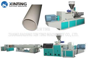 China Profile Twin Screw PVC Pipe Extrusion Line , Plastic Tube Making Machine Low Noise on sale